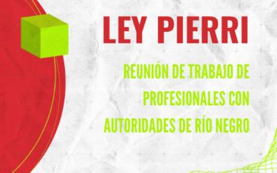 Reunión de trabajo por Aplicación de Ley Pierri en Río Negro