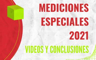 MEDICIONES ESPECIALES 2021: TODAS LAS PRESENTACIONES